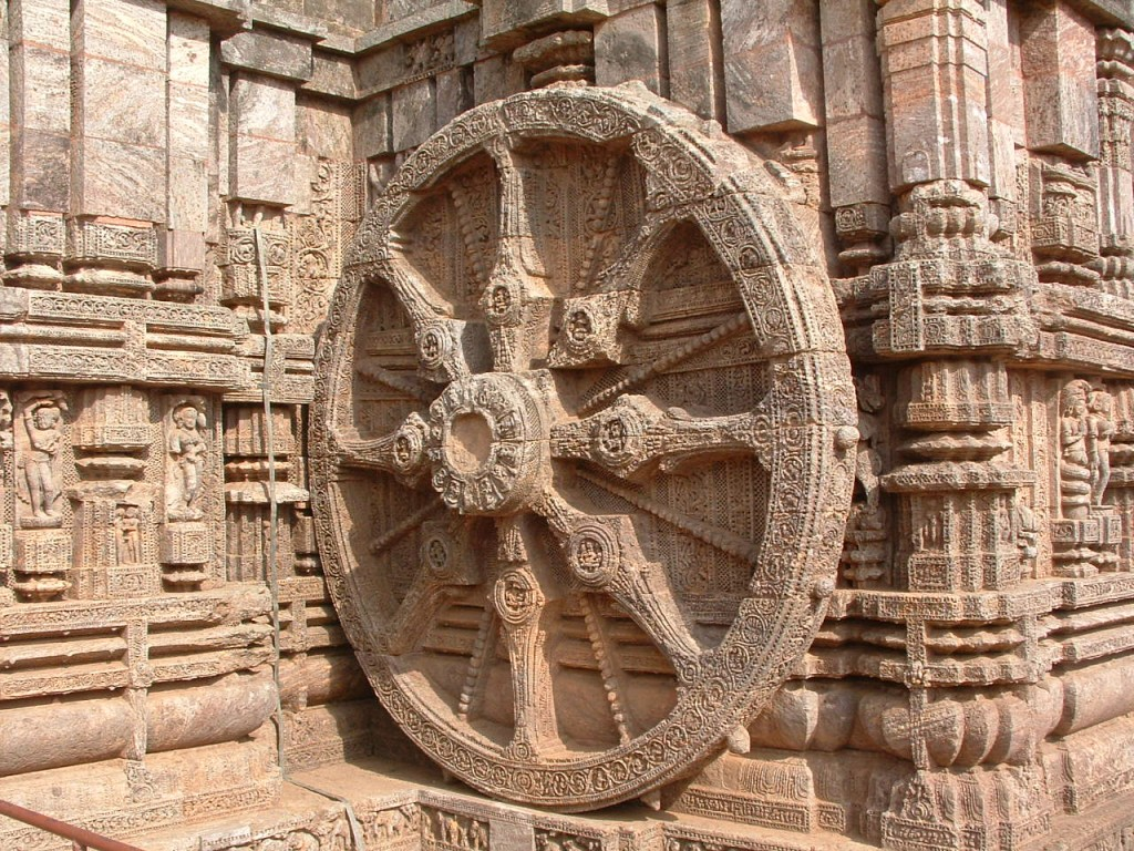 Wheel of Konark Orissa India