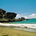 Is the Green Sand Beach in Hawaii really green?
